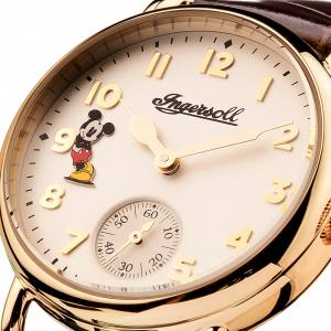 Disney Ingersoll ID00102 Ladies Watch The Trenton Union Quartz Stainless Steel Polished Dial White Strap Strap  Color  Brown