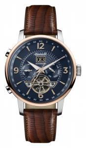 Ingersoll 1892 I00703 Mens The Grafton Movement Automatic Case Stainless Steel Dial Blue Strap Leather Brown Matt