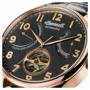 Ingersoll 1892 I04602 Mens The Hawley Movement Automatic Case Stainless Steel Dial Black Strap Leather Black Matt