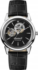 Ingersoll 1892 I07302 Gents The New Haven Movement Automatic Case Stainless Steel Dial Black Strap Leather Black Matt