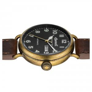 Ingersoll CHRONICLE I03403 Mens The Trenton Movement Automatic Case Stainless Steel Dial Black Strap Leather Brown Matt