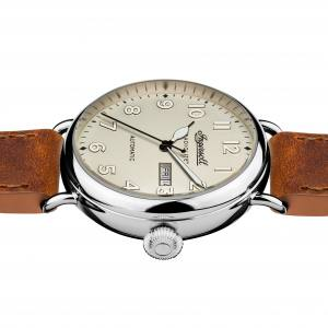Ingersoll DISCOVERY I03803 Mens The Apsley Movement Quartz Case Stainless Steel Dial Blue Strap Leather Brown Matt