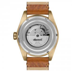 Ingersoll DISCOVERY I05001 Mens The Scovill Movement Automatic Case Other Dial black Strap Leather Tan Matt