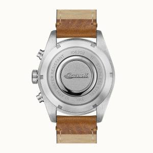 Ingersoll DISCOVERY I06202 Mens The Scovill Movement Quartz Case Stainless Steel Dial Black Strap Leather Brown Matt